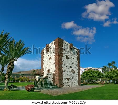 Gothic tower Torre del conde in San Sebastian de La Gomera, Gomera Island, Canary Islands, Spain - stock photo