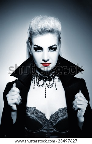 Gothic woman - stock photo