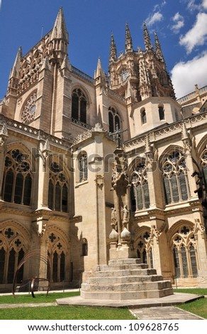 Gotic cathedral of Burgos in Spain.