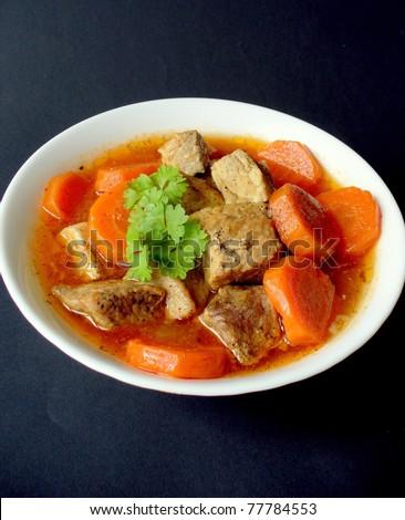 goulash closeup - stock photo