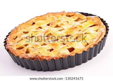 gourmet apple pie - stock photo