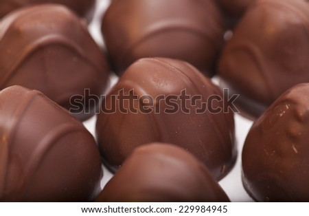 gourmet chocolate bonbons background  - stock photo