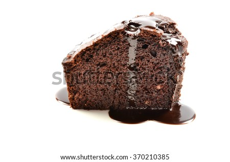 Gourmet Chocolate Cake On white Background