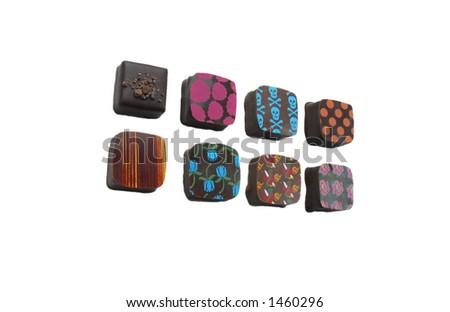 Gourmet chocolates - stock photo