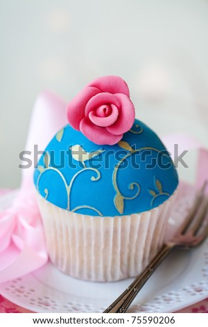 Gourmet cupcake - stock photo