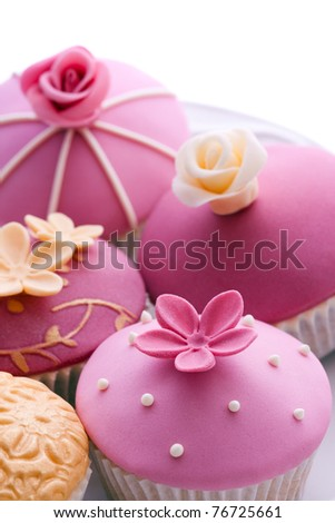 Gourmet cupcakes - stock photo