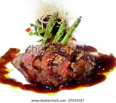 Gourmet fillet steak - Modified version with added color contrast. - stock photo