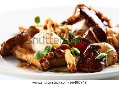 gourmet food - stock photo