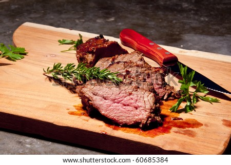 Gourmet Grilled Steak - stock photo