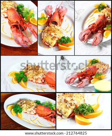 Gourmet lobster dinner at the restaurant