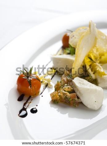 gourmet plate - stock photo