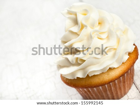 Gourmet Vanilla Cupcake  - stock photo