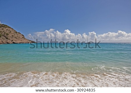 Gouvernours beach on St Barths (French West Indies)