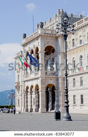 Governament house in Trieste, Italy - stock photo