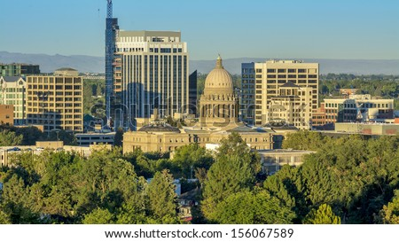 Government building in Boise Idaho - stock photo