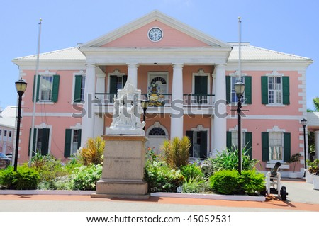 Government House in Nassau Bahamas - stock photo