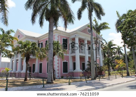 Government House, Nassau The Bahamas - stock photo