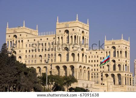 Government`s House on Freedom square. Baku, Azerbaijan - stock photo