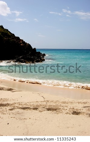 Governor bay, St. Barth, Caribbean - stock photo