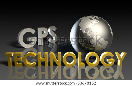 GPS Modern Technology Abstract as a Concept