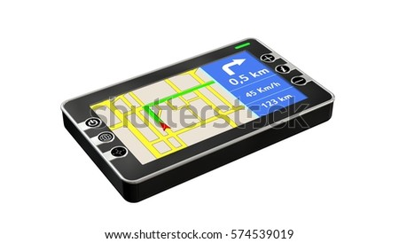 GPS Navigation device isolated on white - 3d rendering