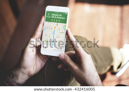 GPS Navigation Directions Location Map Concept - stock photo