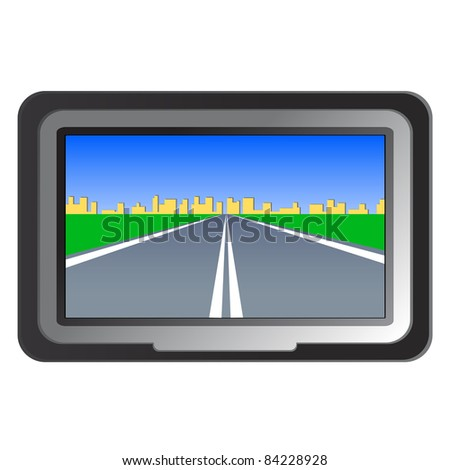 GPS navigation -  illustration - stock photo
