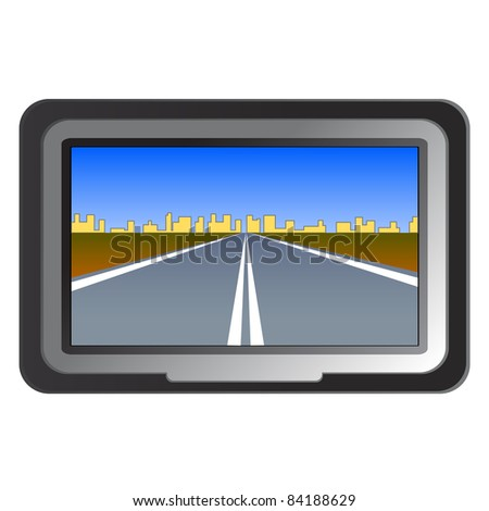 GPS navigation -  illustration. Vector version also available in gallery - stock photo