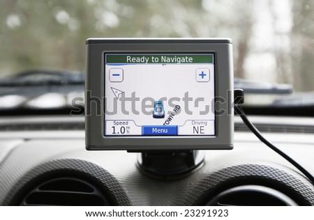 GPS navigation system - stock photo