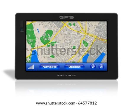GPS navigator - stock photo