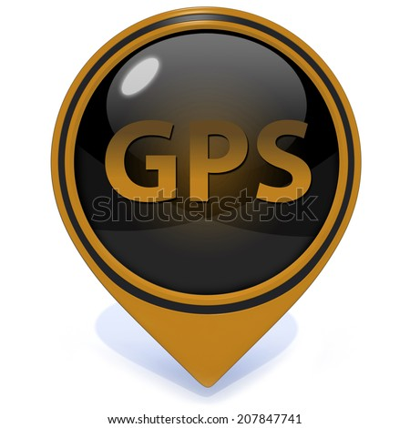 Gps pointer icon on white background