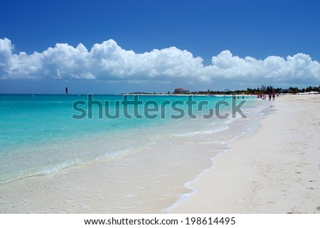 Grace Bay beach in Turks and Caicos - stock photo
