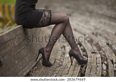 Graceful legs - stock photo