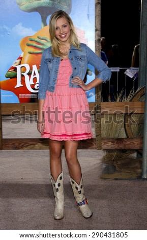 Gracie Dzienny at the Los Angeles premiere of 'Rango' held at the Regency Village Theatre in Westwood on February 14, 2011.