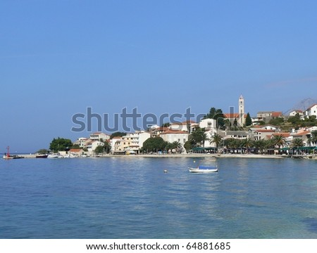 Gradac - touristic town in Croatia, Adriatic sea, Dalmatia - stock photo