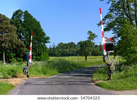 grade crossing - stock photo