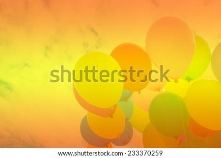 Gradient background balloons - stock photo