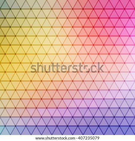 gradient blue, red, yellow, violet, cyan color and triangle polygon pattern background - stock photo