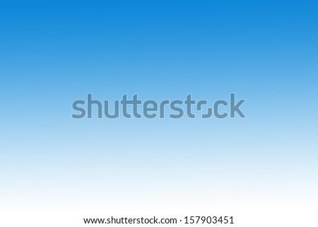 gradient  blue sky  - stock photo