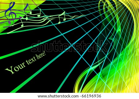 gradient musical pattern - stock photo