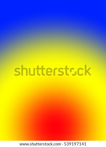 Gradient of yellow to red to blue