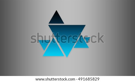 Gradient triangles on gradient background