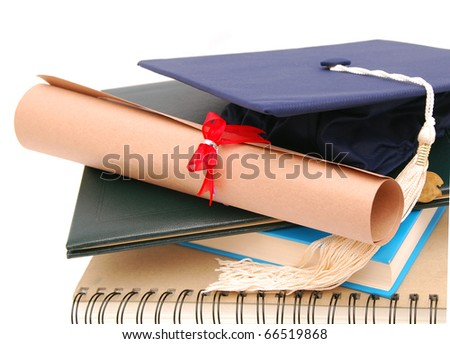 Graduated's student background - stock photo