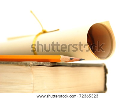 Graduating background - stock photo