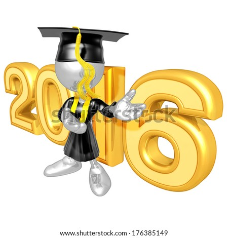 Graduation 2016 - stock photo