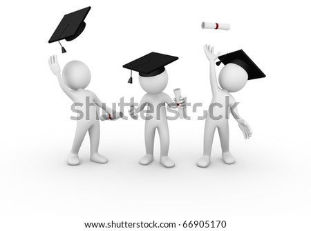 Graduation - stock photo