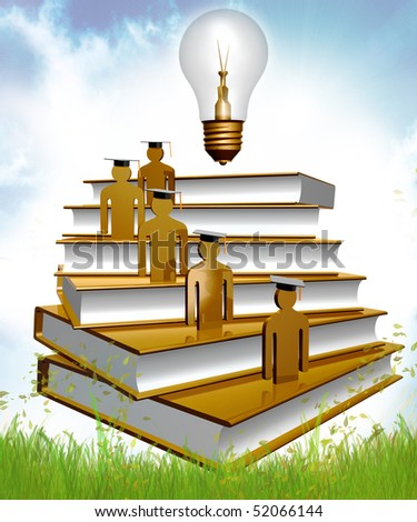 Graduation and scholarship icon symbol - stock photo