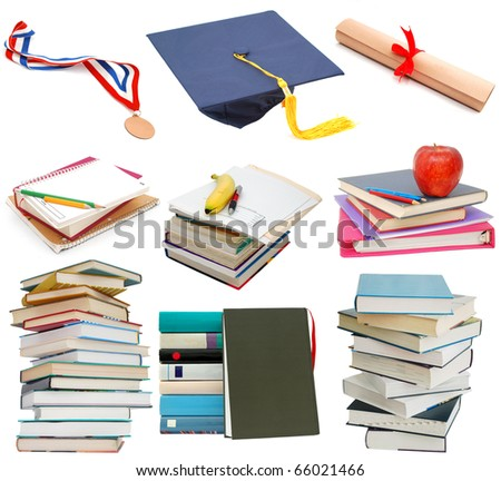 Graduation background in achievement - stock photo