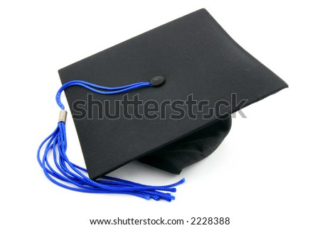 graduation cap - stock photo