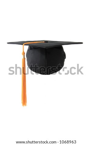 Graduation cap. Isolated object. - stock photo